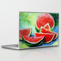 watermelon Laptop & iPad Skins featuring watermelon by OLHADARCHUK