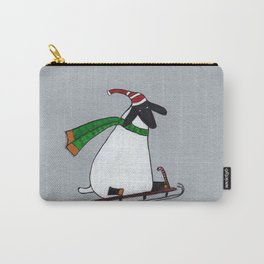 A happy sheep at sledding Carry-All Pouch