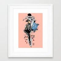 donnie darko Framed Art Prints featuring Donnie Darko Pin-up by Emma Munger