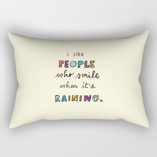 when it's raining Rectangular Pillow