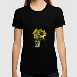 Sunflower In Mason Jar T-shirt