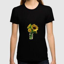 Sunflower In Mason Jar T-shirt