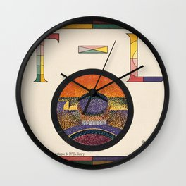 Application of Charles Henry's Chromatic Circle Wall Clock