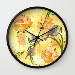 The Sparrow's Melody Wall Clock