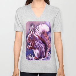 The American Red Pine Squirrel Unisex V-Neck