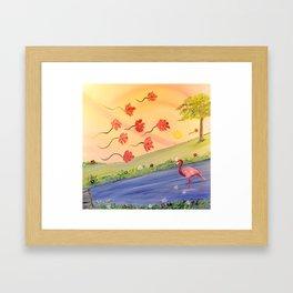 Flamant rose Framed Art Print