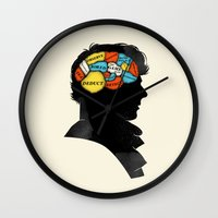 conan Wall Clocks featuring Sherlock Phrenology by Wharton