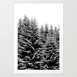 snowy christmas TREES Art Print