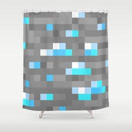 Mined Diamond Block Everything Shower Curtain