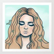 groovy girl Art Print