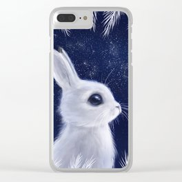 Winter bunny Clear iPhone Case