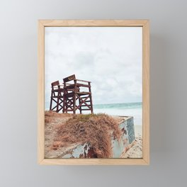 Beach Seats Framed Mini Art Print