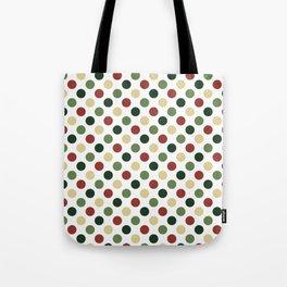 Polka dots - christmas colors Tote Bag