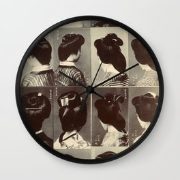 TRADITIONAL JAPANESE HAIRSTYLES Wall Clock