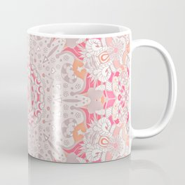 BOHO SUMMER JOURNEY MANDALA - PASTEL ROSE PINK Coffee Mug