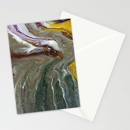Fluid Acrylic XX - Original, acrylic, abstract painting Stationery Cards