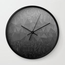 Black and Grey Ombre - Flipped Wall Clock