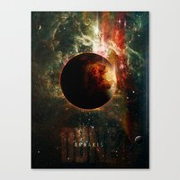 arrakis Canvas Prints featuring DUNE Planet Arrakis Poster by Barrett Biggers