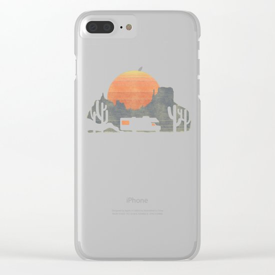 Trail of the dusty road Clear iPhone Case