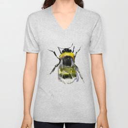 Bumblebee, bee artwork, bee design minimalist honey making design Unisex V-Neck