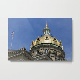 Iowa State Capitol Dome - Photography Metal Print