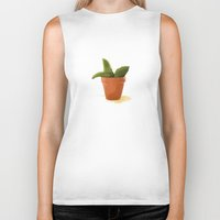 plant Biker Tanks featuring Plant by Shelley Chandelier