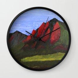 Flatirons Wall Clock