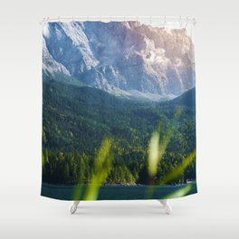 Grass Mountain View (Color) Shower Curtain