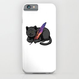 Cat With Feather Gift Cats Lovers iPhone Case