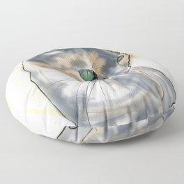 Green Eyed Cat Floor Pillow