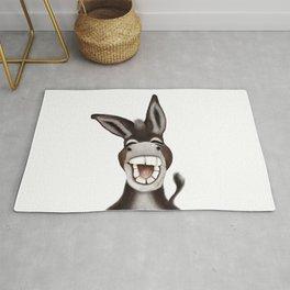 Happy donkey Rug