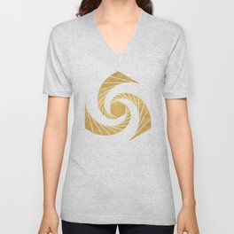 GOLDEN MEAN SACRED GEOMETRIC CIRCLE Unisex V-Neck