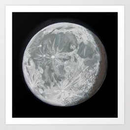 Moon Portrait 2 Art Print