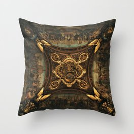 Louvre, Paris, France Throw Pillow
