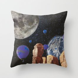 The slow trip in the universe Throw Pillow