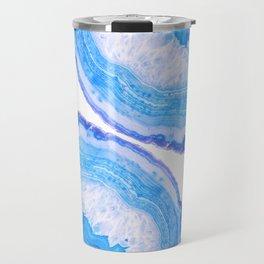 Blue Agate Slices Travel Mug