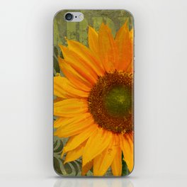 Sunflower Garden II floral art iPhone Skin