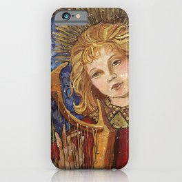 Figure Painting Angel with Harp iPhone Case