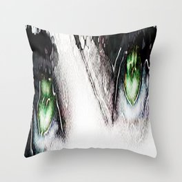 Teardrops in the rain Throw Pillow