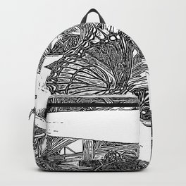 Wild Butterfly Sketch Backpack
