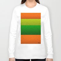 lime green Long Sleeve T-shirts featuring Orange Lime and Green Passion by Saundra Myles