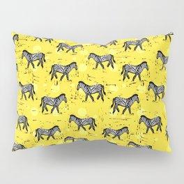 African Zebras – Animal Illustration Pillow Sham