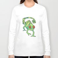 chameleon Long Sleeve T-shirts featuring Chameleon by Suzanne Annaars