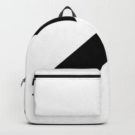 Black bar slanted rectangle — Modern minimal geometric art — Contemporary abstract minimalist design Backpack