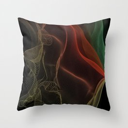 Almost Fluorescent Aurora String Theory #3  Throw Pillow