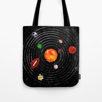 sports Tote Bags featuring Solar Sports by Naomi Batts