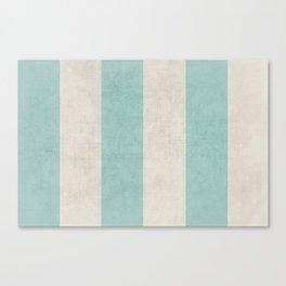 vintage robins egg blue stripes Canvas Print