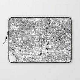 Las Vegas White Map Laptop Sleeve