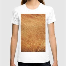 Vintage natural brown leather texture background T-shirt
