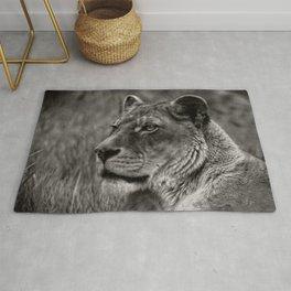 Lioness Portrait Rug
